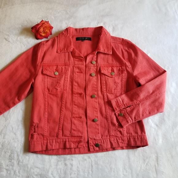 23ec5e03 Tinsel Jackets & Coats | Distressed Denim Jacket | Poshmark